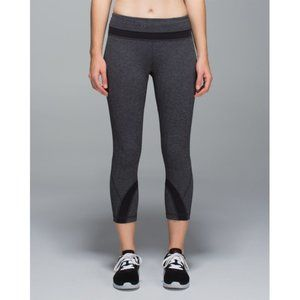 Lululemon Inspire Crop Legging Herringbone Grey 8